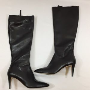 Leather Knee High Boots 39